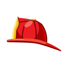 Helmet for a firefighter icon, cartoon style