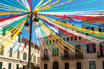 colorful streets of mao, minorca