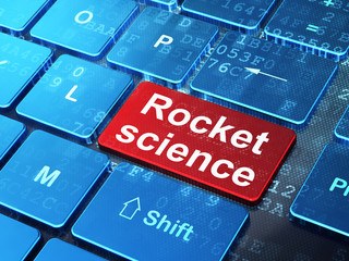 Science concept: Rocket Science on computer keyboard background