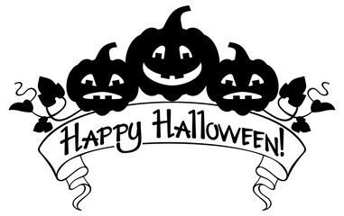 Happy Halloween elements for your greeting card design
