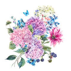 Floral Greeting Card with Hydrangea