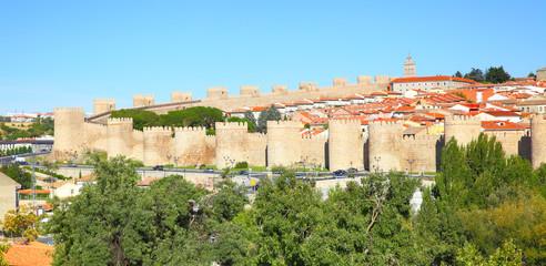 Wall Mural - Panoramic view of Avila