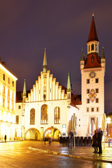Wall Mural - Old Town hall in Munich