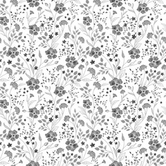 sunny pastel floral print. Seamless background