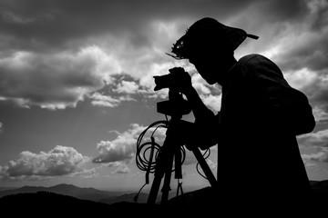 Photographer / Videographer silhouette