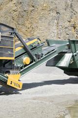 Conveyor belt in the mine