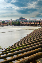 Panorama of Prague, Czech Republic.
