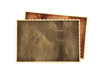 Vintage photos isolated on white