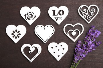 Wall Mural - Lavender and heart.