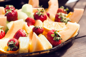 Fresh fruit on a platter