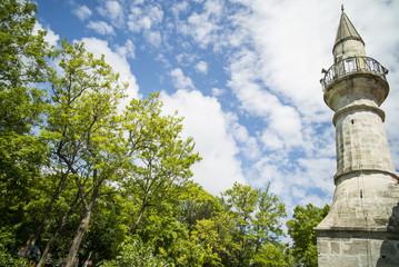 Minaret and blue sky
