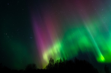 Beautiful photo of Northern Lights in Estonia sky