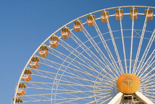 Ferris wheel at an amusement park  in Wildwood New Jersey