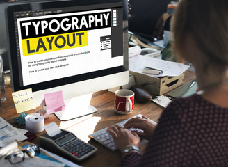 Typography Layout Responsive Design Creative Concept