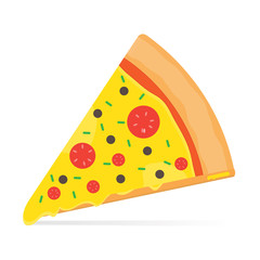Pizza cartoon vector food design.