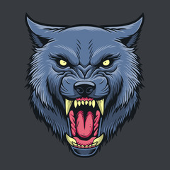 Wolf Head Vector Stock