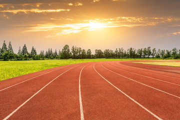 Athletes runway and runway scenery