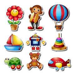 Sticker set with many toys