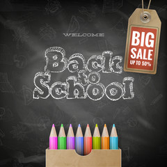 Back to School sale background. EPS 10