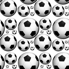 Seamless background design with footballs