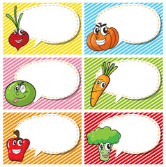 Label design with fresh vegetables