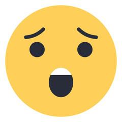 Fearful - Flat Emoticon design   Emojilicious