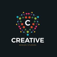 Creative People logo, education logo,People brand identity