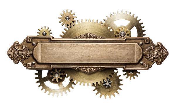 Steampunk clockwork mechanism