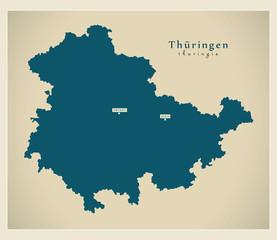 Modern Map - Thueringen DE new design refreshed