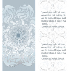 Hand drawn vector ornamental mandala with place for your text.