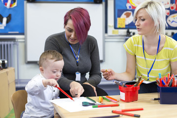 Down Syndrome boy at Nursery