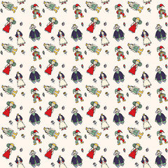 royal family with jester fun graphic pattern