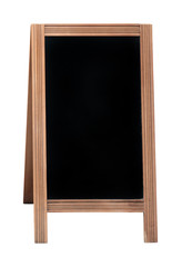 Isolated black board