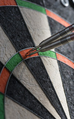 Darts in a dartboard, hit the maximum score 180