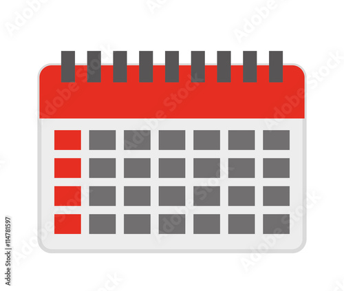 Calendar Reminder Design : Quot calendar reminder isolated icon design imágenes de