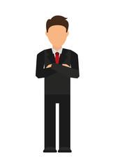 businessman avatar isolated icon design