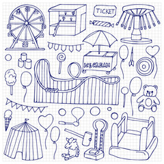 Attraction doodle Set