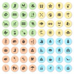 Icon Set Jahreszeiten
