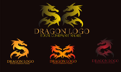 Dragon logo illustration vector
