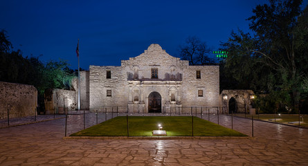 The Alamo, originally known as Mission San Antonio de Valero, in San Antonio, Texas