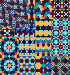 Seamless patterns Set in Moroccan style