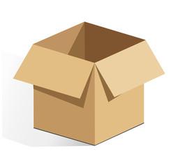 Vector cardboard illustration