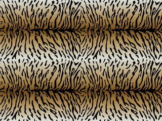 Tiger asymmetric strips seamless pattern