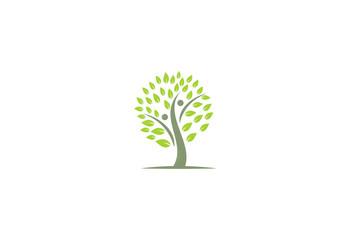 tree organic plant logo