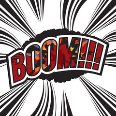 Boom Comic Sound Effect Vector Illustration.
