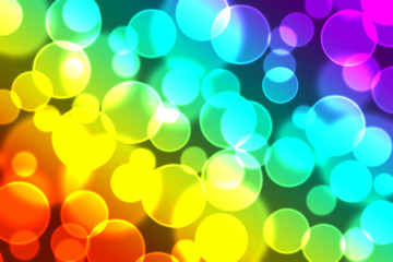 Colourful bokeh background.