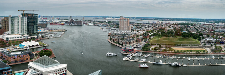 Baltimore Maryland buildings Harbor view aerial landscape