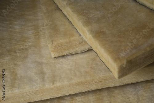 isolation thermique panneaux de laine de verre stock