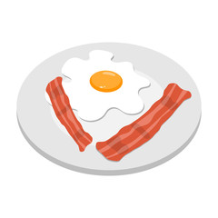 Breakfast egg with bacon