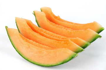 sliced cantaloupe melon